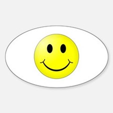 Cute Yellow smiley face Decal