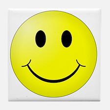 Cute Yellow smiley Tile Coaster