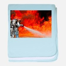 Firefighters in Action baby blanket
