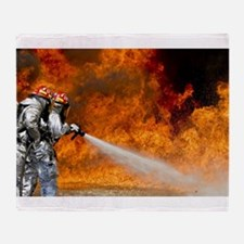 Firefighters in Action Throw Blanket