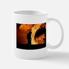 Sole Firefighter in the Blaze Mugs