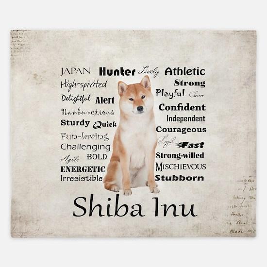 Shiba Inu Traits King Duvet