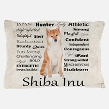 Shiba Inu Traits Pillow Case
