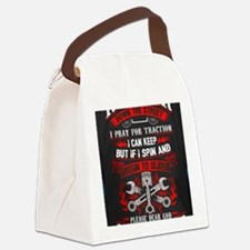 Funny Hot rod Canvas Lunch Bag