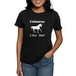 Unicorns Like Me Women's Dark T-Shirt
