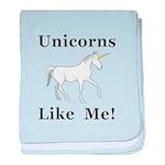 Unicorns Like Me baby blanket