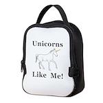 Unicorns Like Me Neoprene Lunch Bag