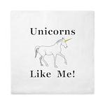Unicorns Like Me Queen Duvet