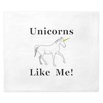 Unicorns Like Me King Duvet
