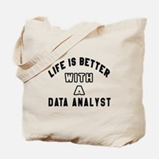 Data Analyst Designs Tote Bag