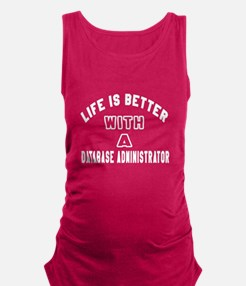 Database Administrator Designs Maternity Tank Top