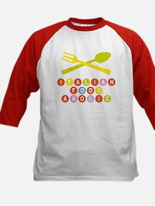 Italian food-aholic Kids Baseball Jersey