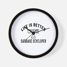 Database Developer Designs Wall Clock