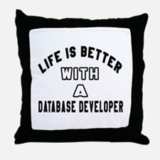 Database Developer Designs Throw Pillow