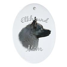 Elkhound Mom2 Oval Ornament
