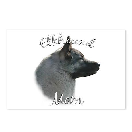 Elkhound Mom2 Postcards (Package of 8)