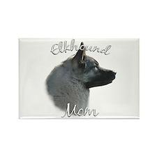 Elkhound Mom2 Rectangle Magnet
