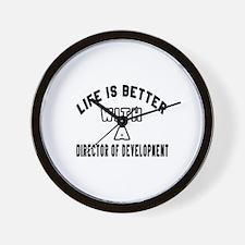 Director of Development Designs Wall Clock