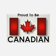 Proud To Be Canadian Rectangle Magnet (100 pack)