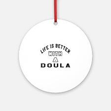 Doula Designs Round Ornament
