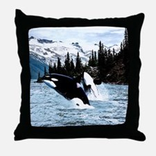 Cute Orca Throw Pillow