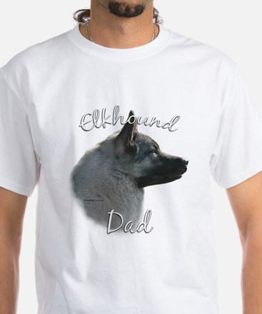 Elkhound Dad2 White T-Shirt