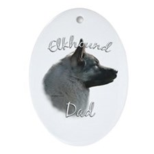 Elkhound Dad2 Oval Ornament
