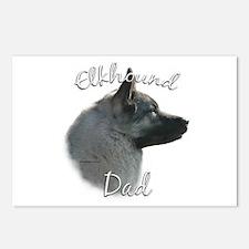 Elkhound Dad2 Postcards (Package of 8)