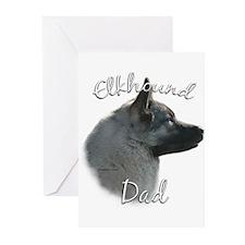 Elkhound Dad2 Greeting Cards (Pk of 20)