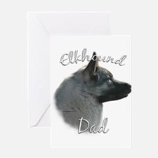 Elkhound Dad2 Greeting Card