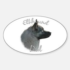 Elkhound Dad2 Oval Decal