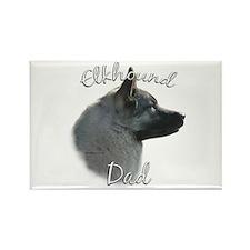 Elkhound Dad2 Rectangle Magnet