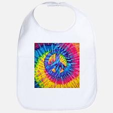 Peace Sign Hippie Hippy Psychedelic Tie-Dye Bib