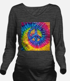 Peace Sign Hippie Hi Long Sleeve Maternity T-Shirt