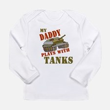 Funny Army baby for daddy Long Sleeve Infant T-Shirt
