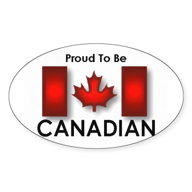 Design my own car sticker - Proud To Be Canadian Oval Decal By Ptbcandian2