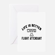 Flight Attendant Designs Greeting Card