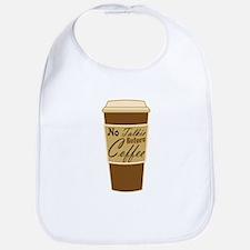 no talkie before coffee Bib