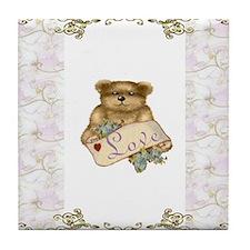 Teddy Bear Love Tile Coaster
