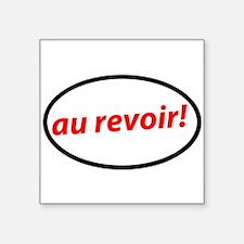 "Funny France Square Sticker 3"" x 3"""