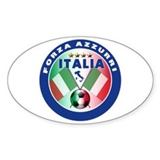 Italian Forza Azzurri Oval Decal