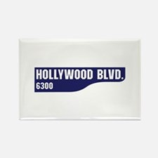 Hollywood Boulevard, Los Angeles, Rectangle Magnet