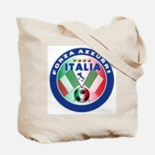 Italian Forza Azzurri Tote Bag