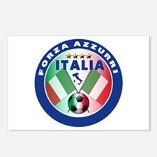 Italian Forza Azzurri Postcards (Package of 8)