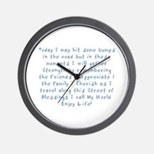 Street of Blessings Wall Clock