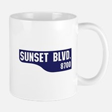 Sunset Boulevard, Los Angeles, CA Small Small Mug