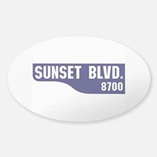 Sunset Boulevard, Los Angeles, CA Decal