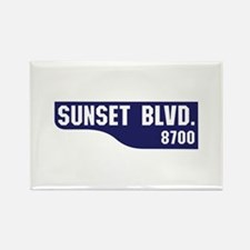 Sunset Boulevard, Los Angeles, CA Rectangle Magnet