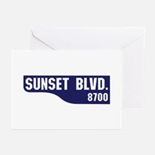 Sunset Boulevard, Los An Greeting Cards (Pk of 10)