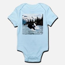 Leaping Killer Whales Body Suit